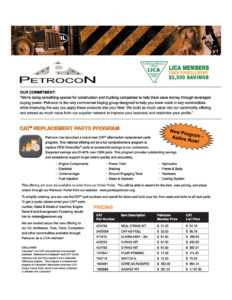 Petrocon CAT Parts Program